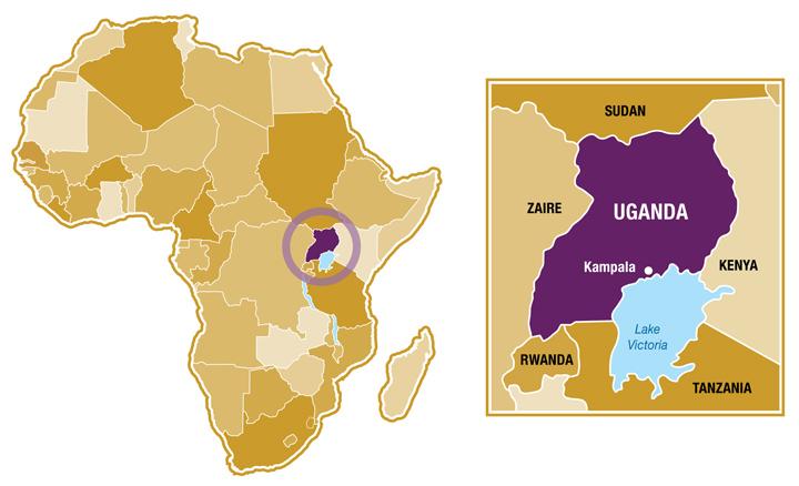 Location in Uganda
